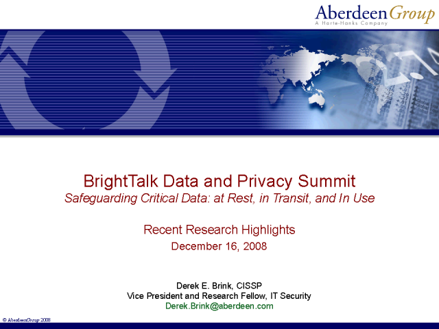 Safeguarding Critical Data: at Rest, in Transit, and in Use