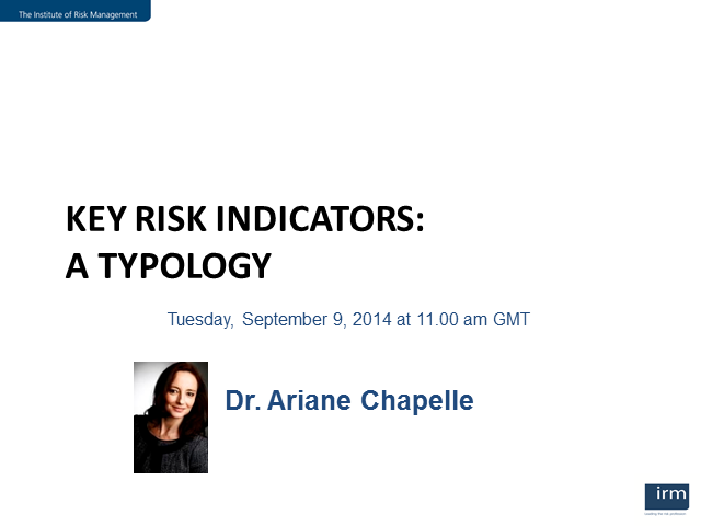 Effective Key Risk Indicators