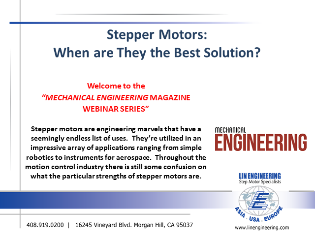 Stepper Motors: When are They the Best Solution?