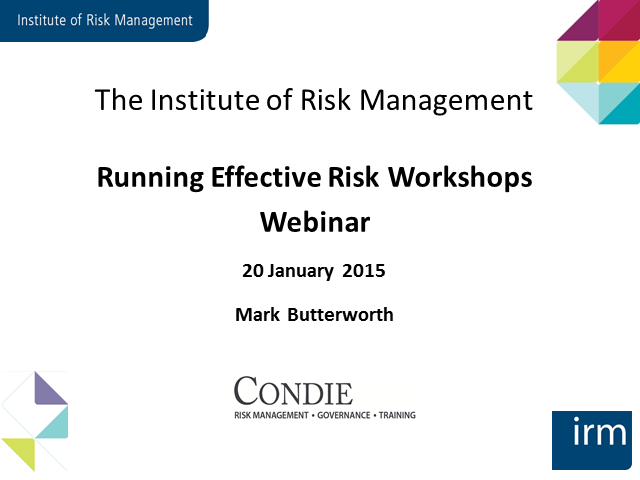 Running Effective Risk Workshops