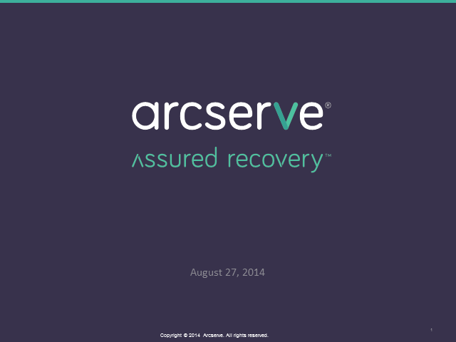 Independent Arcserve – What it means for you!