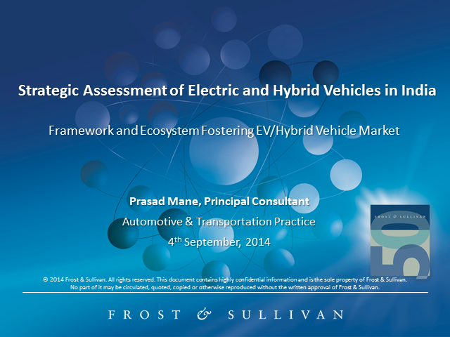 Framework and Ecosystem Fostering EV/Hybrid Vehicle Market in India