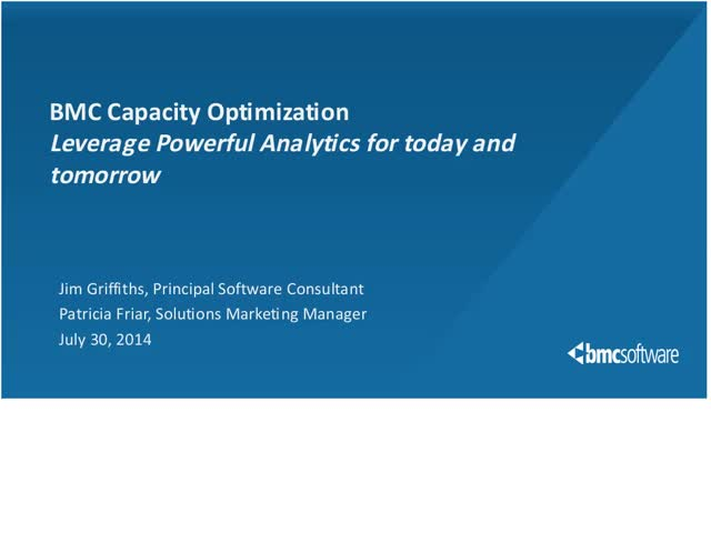 How To Leverage Analytics for Capacity Optimization