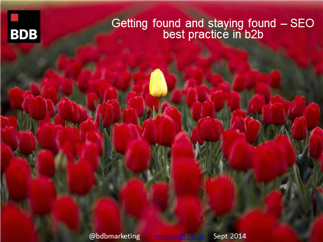 Getting found and staying found - SEO best practice in B2B