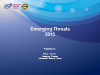 Emerging Threats for 2015