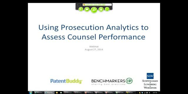 Using Prosecution Analytics to Assess Counsel Performance