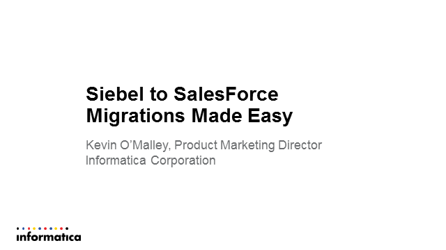 Migrate from Siebel to Salesforce Quickly and Securely
