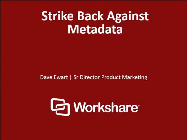 Strike Back Against Metadata