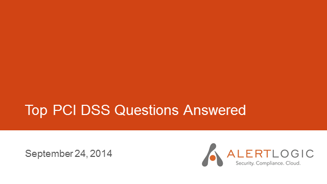 Top PCI DSS 3.0 Questions Answered