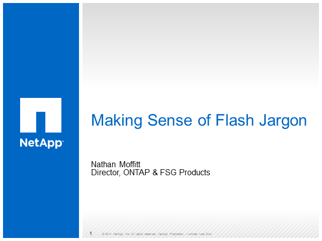 Making Sense of Flash Jargon
