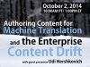 Authoring Content for Machine Translation and the Enterprise Content Drift