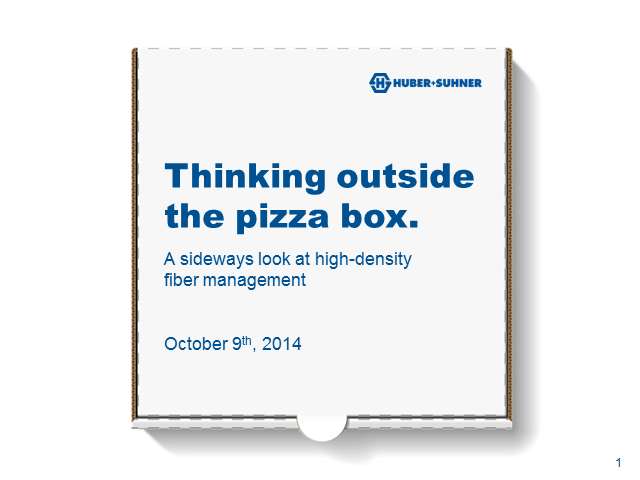 Thinking outside the pizza box: a sideways look at high-density Fiber Management