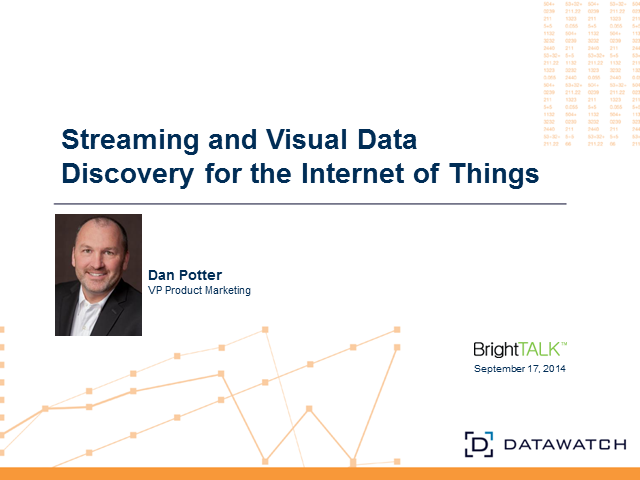 New Advances in Streaming and Visual Data Discovery for the Internet of Things