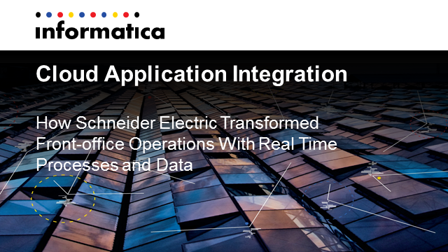 How Schneider Electric Transformed Front-office Operations With Real-time Data