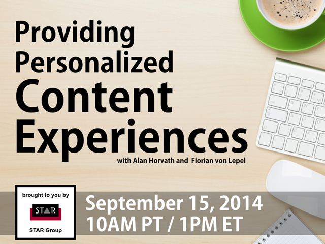 Providing Personalized Content Experiences