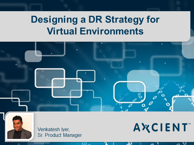 Designing a DR Strategy for Virtual Environments