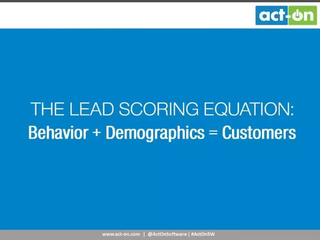 Lead Scoring – The Science of Behavioral Marketing