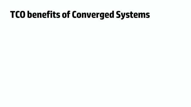 TCO benefits of HP Converged Systems