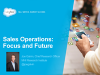 Sales Operations: Focus and Future