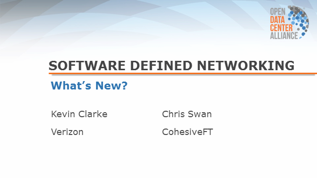 Software Defined Networking - What's New?
