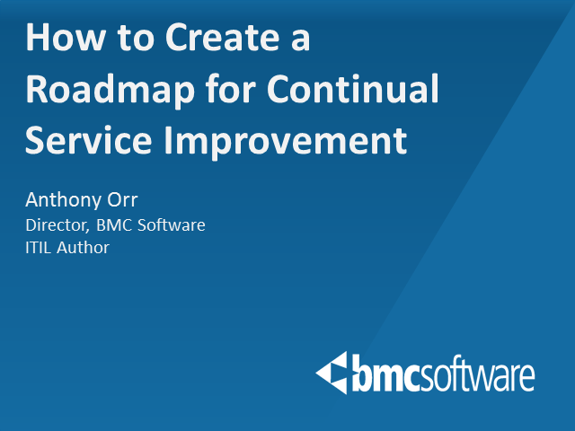 How to Create a Roadmap for Continual Service Improvement