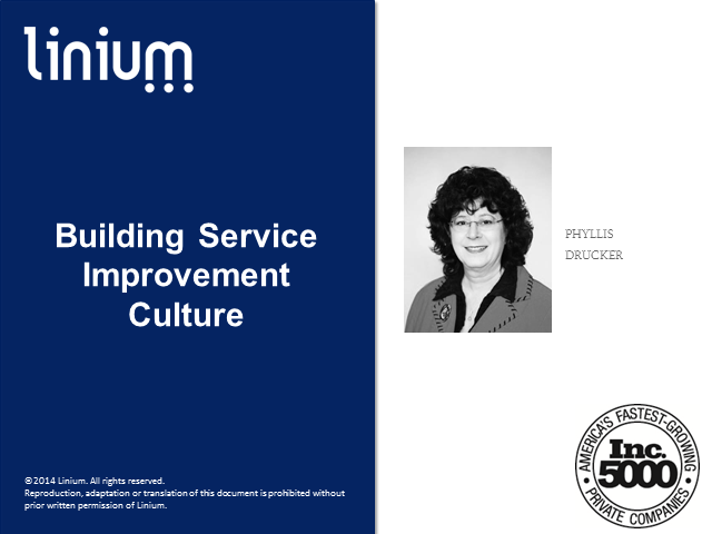 Building a Service Improvement Culture