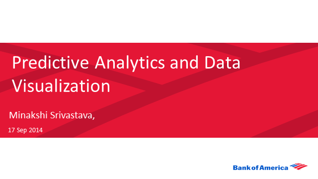 Predictive Analytics and Data Visualization