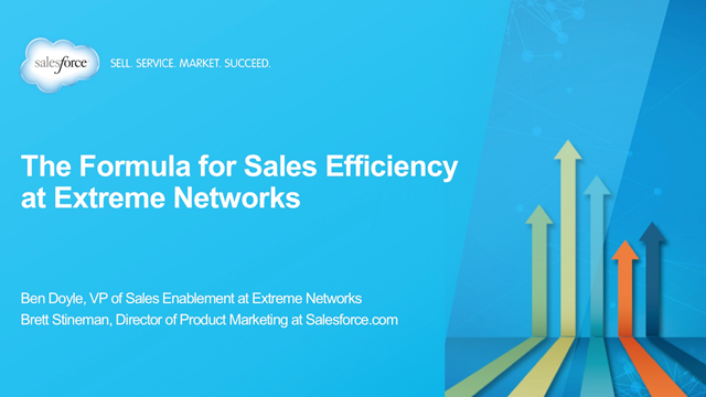 The Formula for Sales Efficiency at Extreme Networks
