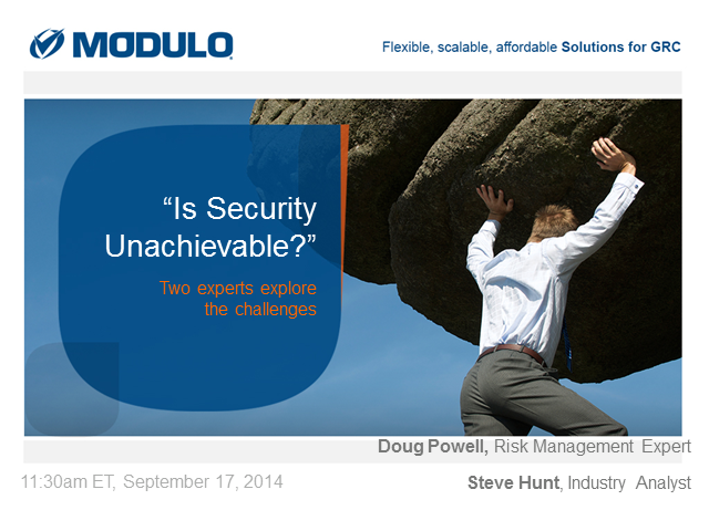"""Is Security Unachievable?"""