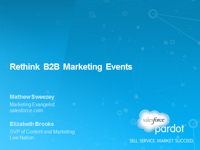 Rethink B2B Marketing Events