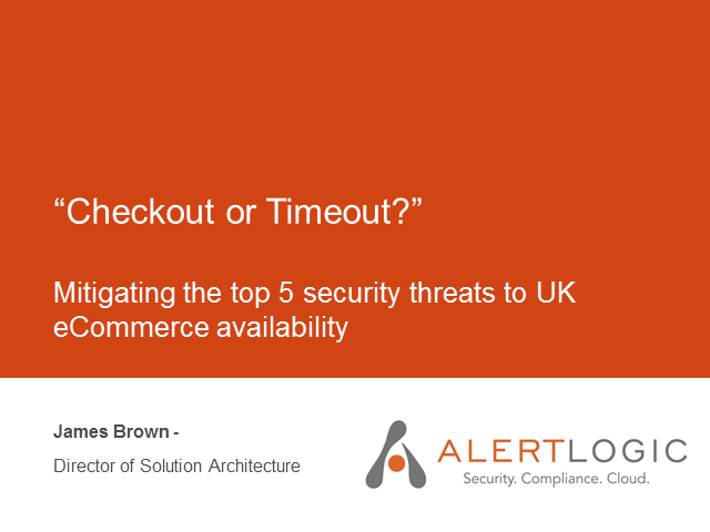 Checkout or Timeout? Mitigating top 5 security threats to eCommerce availability