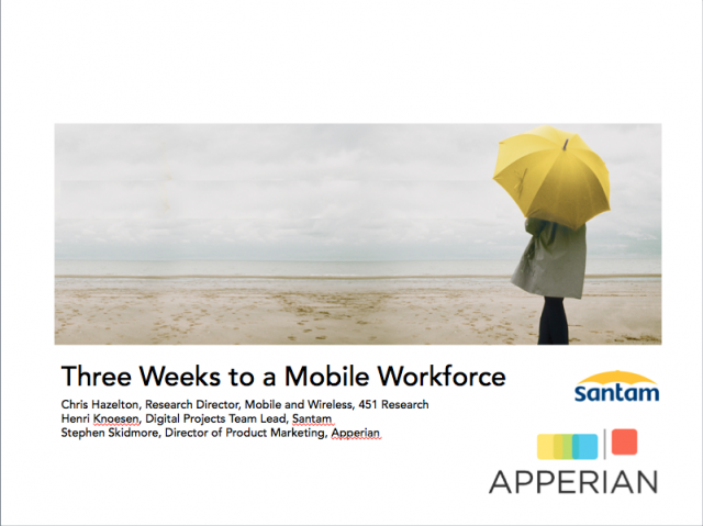 Three Weeks to a Mobile Workforce