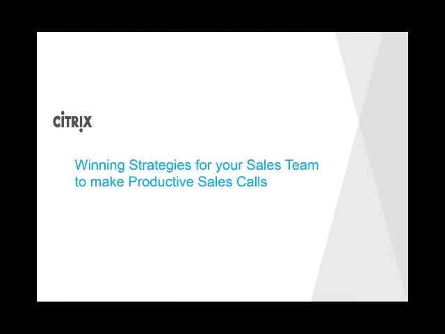 Winning Strategies for your Sales Team to make Productive Sales Calls