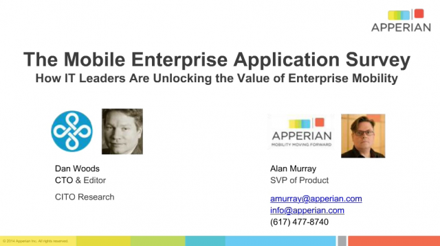 How IT Leaders are Unlocking the Value of Enterprise Mobility