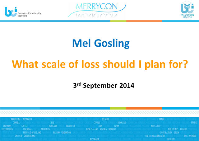 BCI webinar: What scale of loss should I plan for?