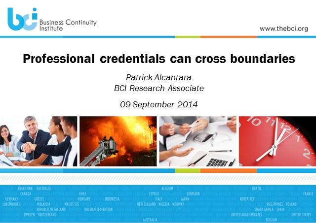BCI webinar: Professional credentials can cross boundaries