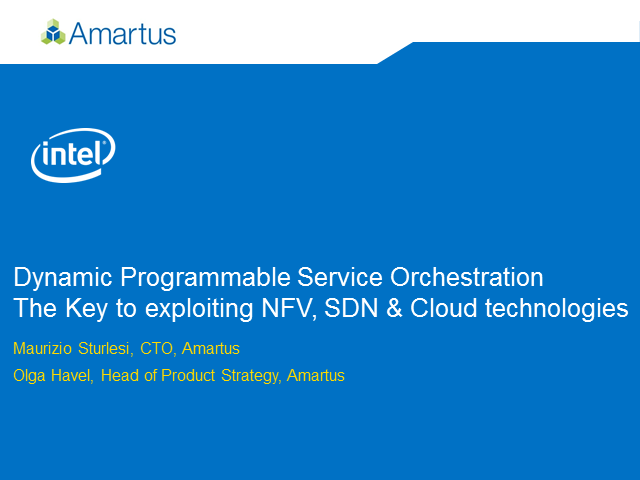 Dynamic Programmable Service Orchestration – NFV, SDN, and Cloud Technologies