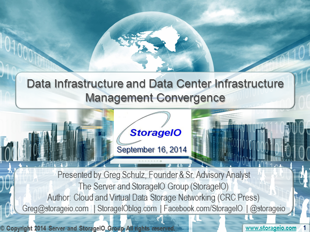 Data Infrastructure and Data Center Infrastructure Management Convergence