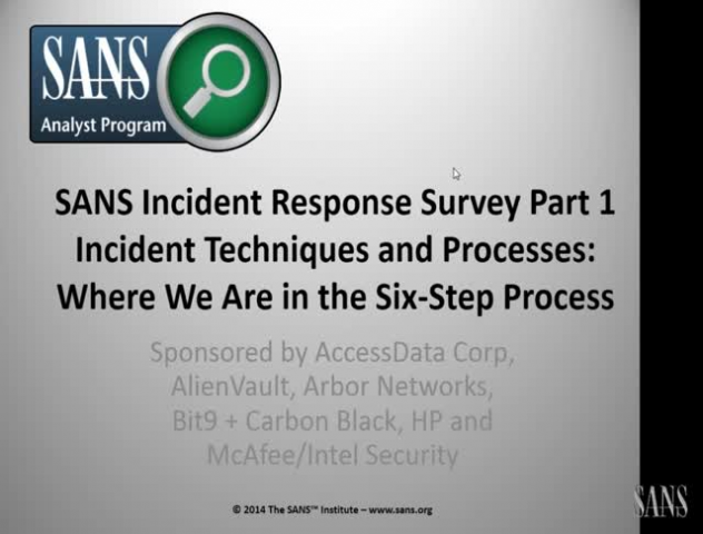 Incident Response Techniques and Processes: Where We Are in the Six-Step Process