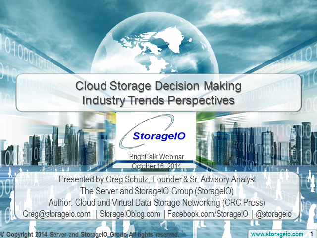 Cloud Storage Decision Making and Industry Trends Perspectives