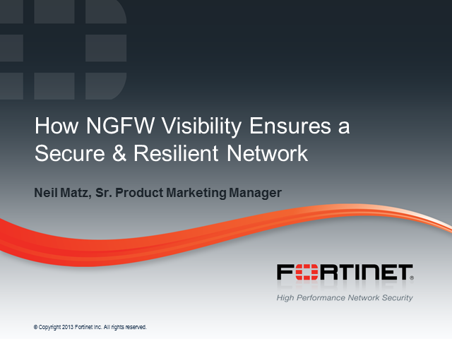 How NGFW Visibility Ensures a Secure & Resilient Network