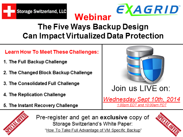 The 5 Ways Your Backup Design Can Impact Virtualized Data Protection