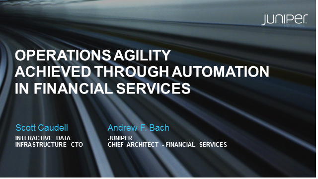 Operations Agility Achieved Through Automation in Financial Services