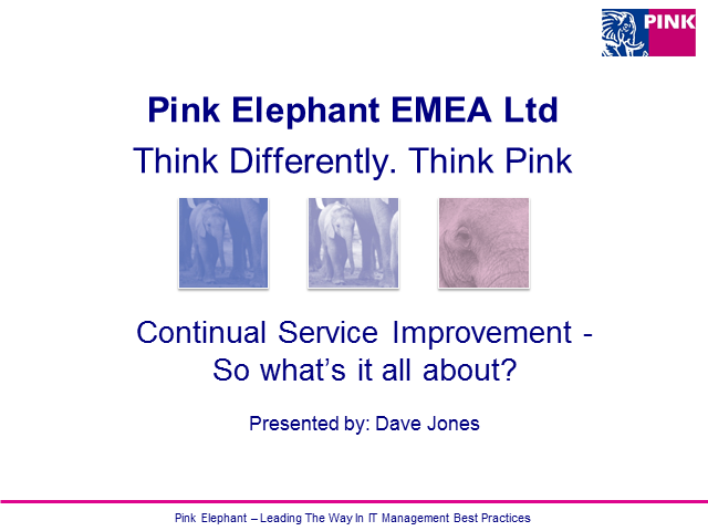 Continual Service Improvement – So what's it all about?