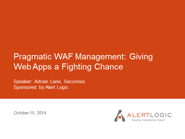 Pragmatic Cloud Security: Giving Web Apps a Fighting Chance