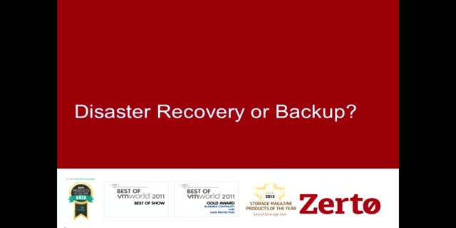 Do you need backup or disaster recovery? The 5 Key Attributes