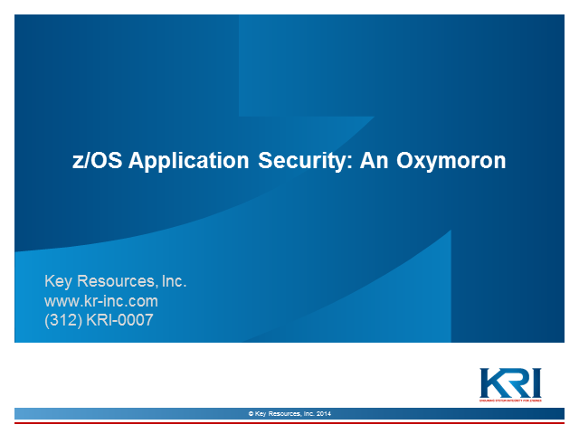 Application Security: An Oxymoron