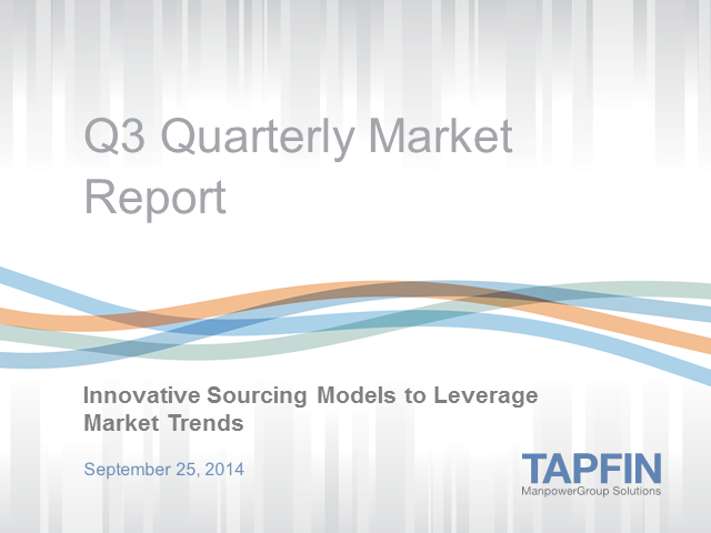 Quarterly Market Report: Innovative sourcing models to leverage market trends