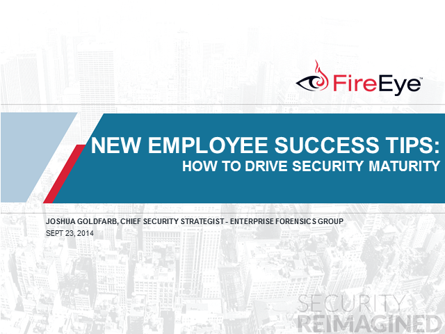 New Employee Success Tips: How to Drive Security Maturity