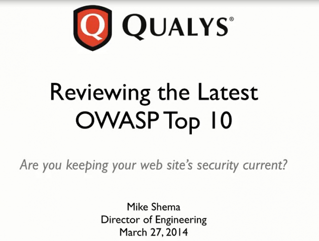 Reviewing the Latest OWASP Top 10